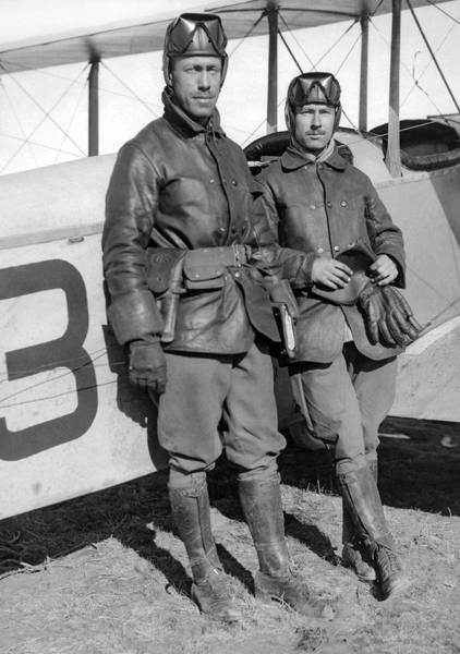 Army Air Corps Photograph - U. S. Army Aero Corps Pilots by Underwood Archives