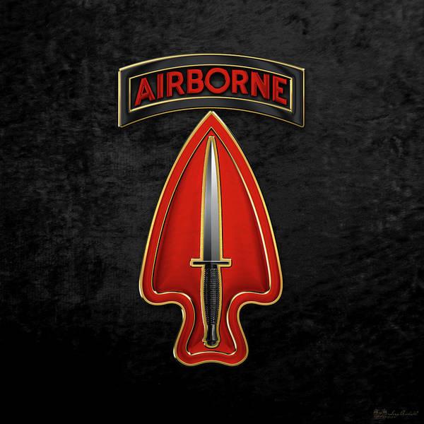 Digital Art - U. S.  Army Special Operations Command  -  U S A S O C    C S I B Over Black Velvet by Serge Averbukh