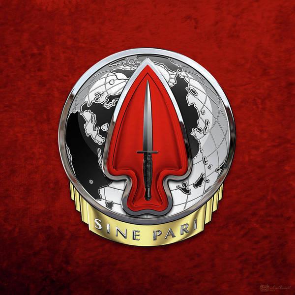 Digital Art - U. S.  Army Special Operations Command  -  U S A S O C    D U I Over Red Velvet by Serge Averbukh