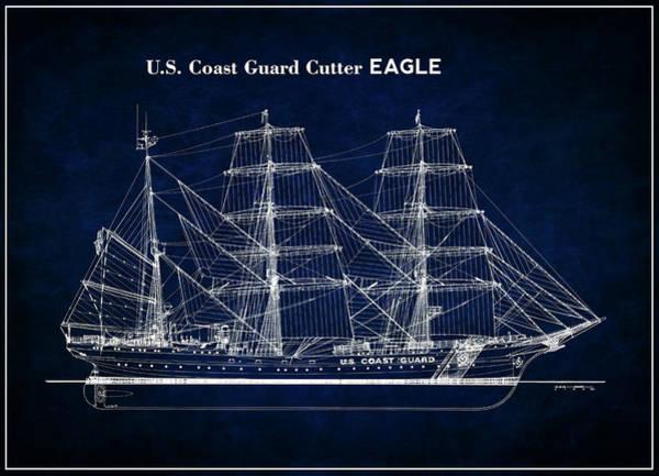 Wall Art - Photograph - U. S. Coast Guard Cutter Eagle Blueprint by Daniel Hagerman
