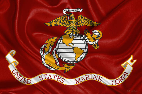 Digital Art - U. S.  Marines - U S M C Corps Flag by Serge Averbukh