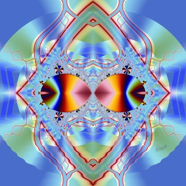 Self Similarity Digital Art - u005 Two Lost Souls Swimming in the Mandelbowl by Drasko Regul