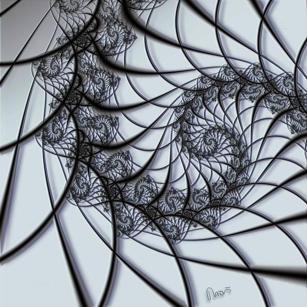 Self Similarity Digital Art - u012 Neatly Knit Net Of Infinity by Drasko Regul