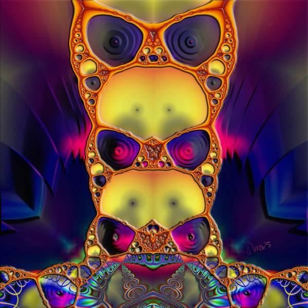 Self Similarity Digital Art - u017 Run Run Away, Psychokilla Is Coming To Town by Drasko Regul