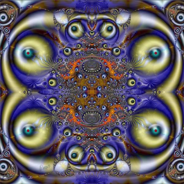 Self Similarity Digital Art - u018 Multisighted Restless Pathfinder by Drasko Regul