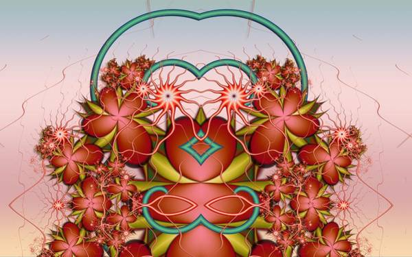 Self Similarity Digital Art - u025-2 Fractaloxy Lady by Drasko Regul