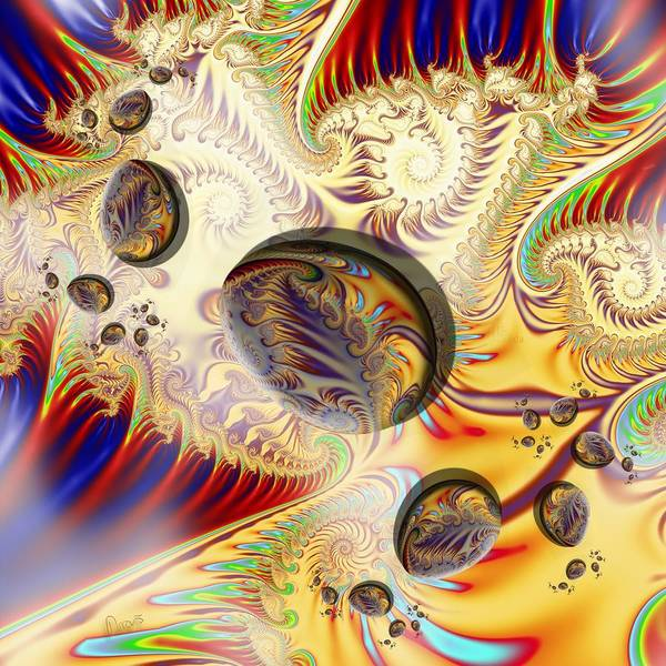 Self Similarity Digital Art - u029 Happy Spiralegged Eastervasion by Drasko Regul