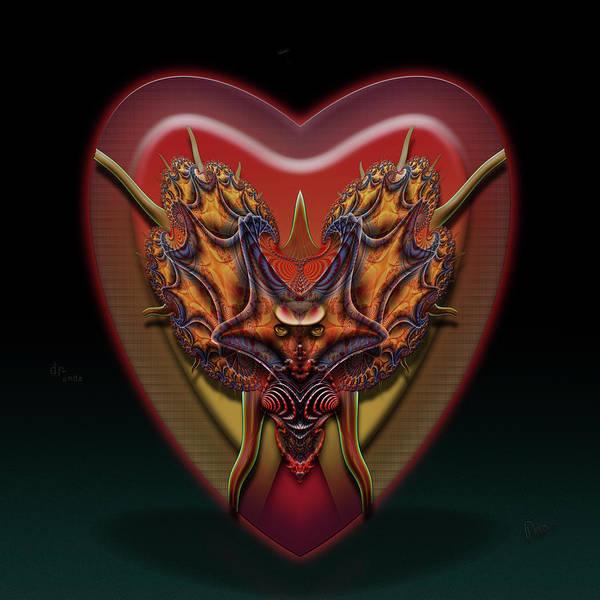 Self Similarity Digital Art - u033 Trimmed Caprihorny Heartcore Drndax by Drasko Regul
