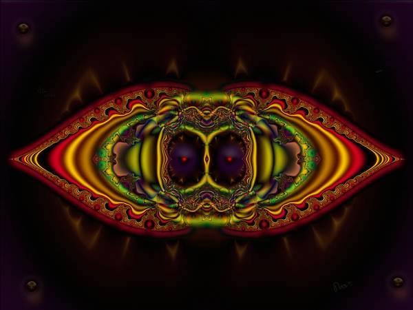 Self Similarity Digital Art - u039 Heddonistic Attack Of The Gazing Kisser by Drasko Regul
