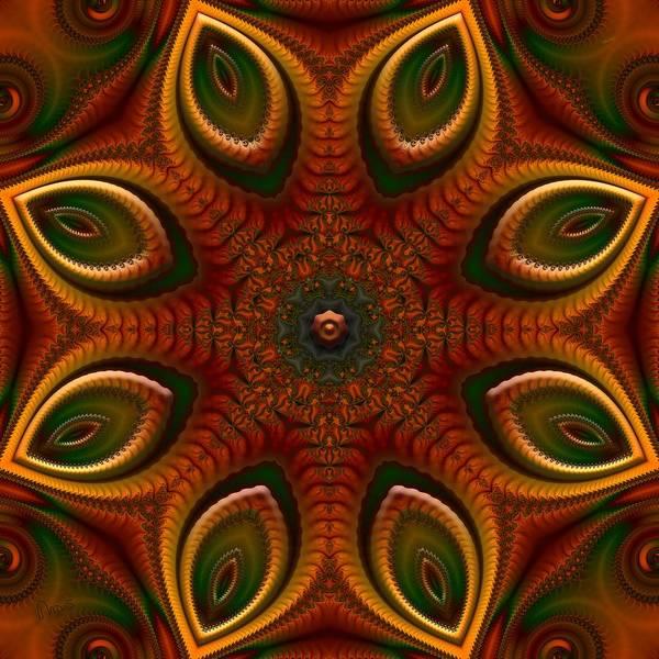 Self Similarity Digital Art - u046-a Quartetweaks Of An 8-Petaled Mandalwork 1 by Drasko Regul
