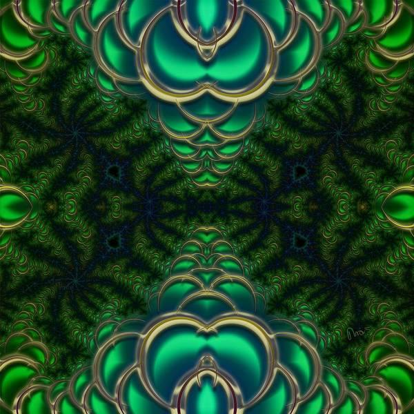Self Similarity Digital Art - u055 Sedimented Green, Green Bras Of Scale by Drasko Regul