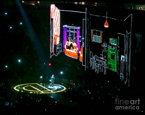 U2 Photograph - U2 Innocence And Experience Tour 2015 Opening At San Jose. 5 by Tanya Filichkin
