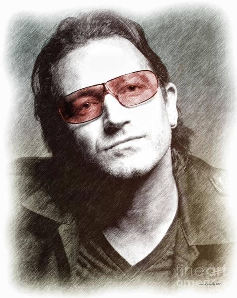 U2 Photograph - U2's Bono by Elaine Manley