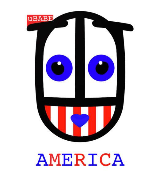 Digital Art - uBABE America by Charles Stuart