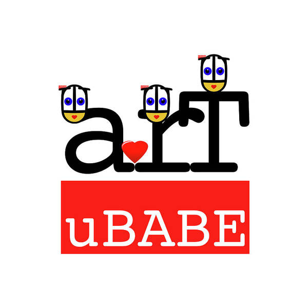 Digital Art - uBABE Art Brand by Charles Stuart