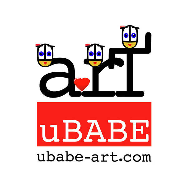 Digital Art - uBABE Art Wave by Charles Stuart