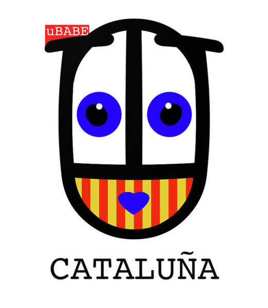 Digital Art - uBABE Catalonia by Charles Stuart