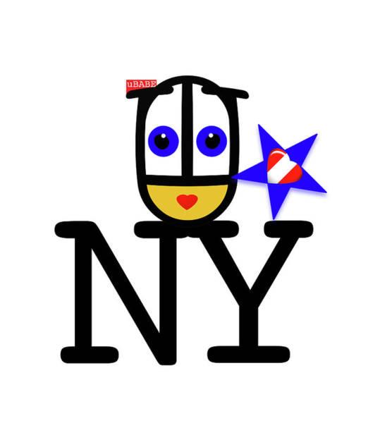 Digital Art - uBABE Plays New York by Charles Stuart