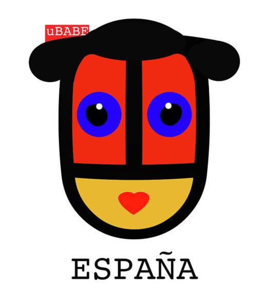 Digital Art - uBABE Spain by Charles Stuart