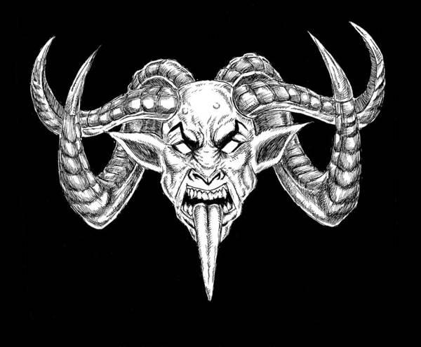 Demonic Drawing - Uber Goat by Alaric Barca