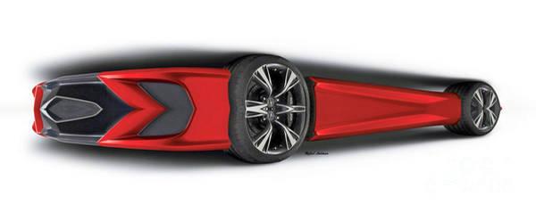 Digital Art - Uber Ride Of The Future 0903 by Rafael Salazar