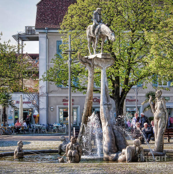 Photograph - Imperia,the Uberlingen Fountain by Tatiana Travelways