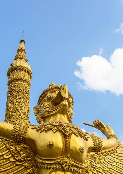 Photograph - Ubon Ratchatani Statue by Didier Marti