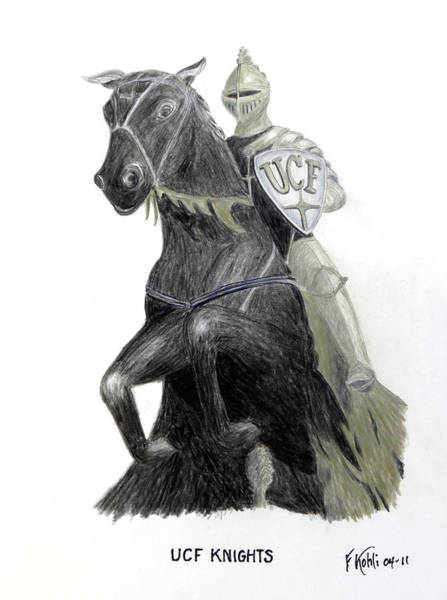 Wall Art - Drawing - Ucf Knights by Frederic Kohli