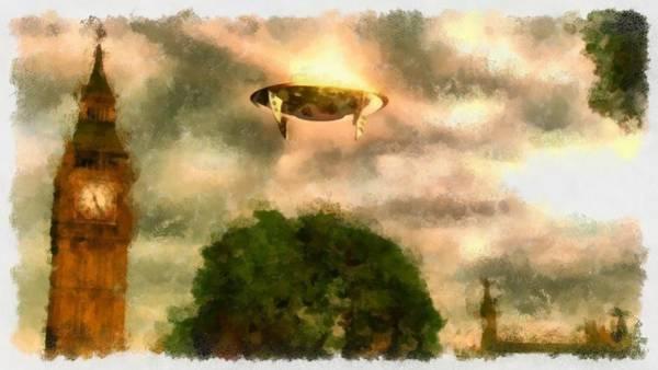 Crash Painting - Ufo Big Ben by Esoterica Art Agency