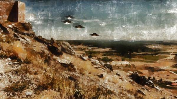 Wall Art - Painting - Ufo By Raphael Terra And Mary Bassett by Raphael Terra