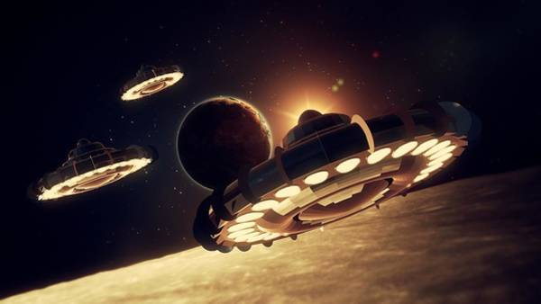 Ufo Digital Art - Ufo Invasion Force By Raphael Terra by Raphael Terra