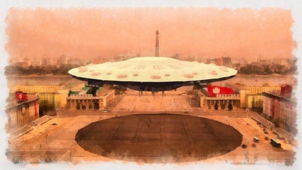Saucer Painting - Ufo State by Esoterica Art Agency