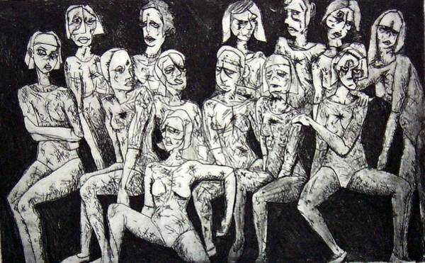 Wall Art - Print - Ugly Girls by Thomas Valentine