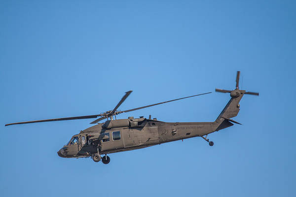 Photograph - Uh-60 Blackhawk Over Boston 3 by Brian MacLean