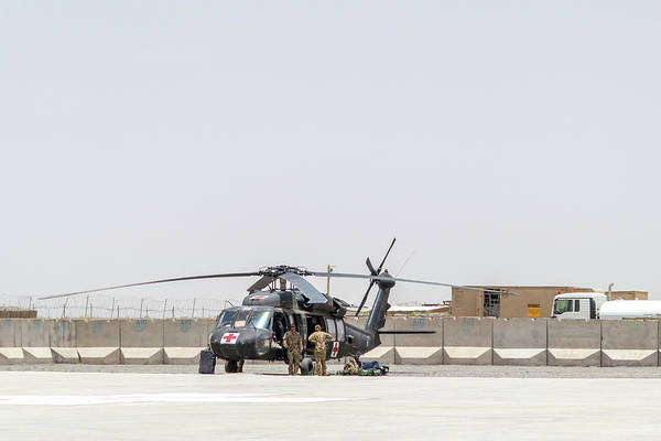 Photograph - Uh-60 Medevac Prep by SR Green