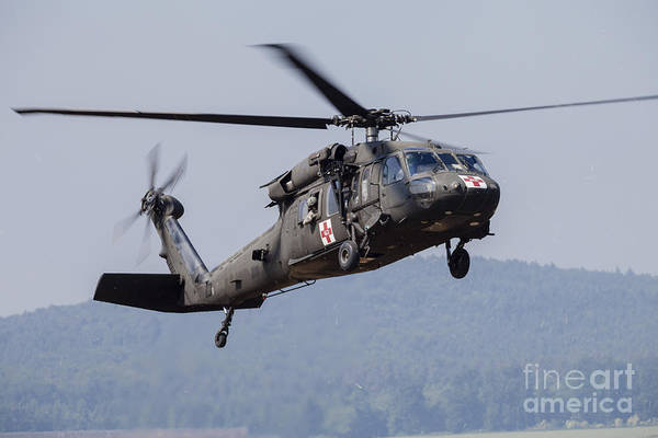 Utility Helicopter Photograph - Uh-60a Black Hawk Medevac Helicopter by Timm Ziegenthaler