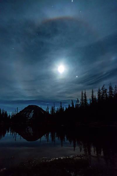 Bald Mountain Photograph - Uinta Moonbow by Johnny Adolphson