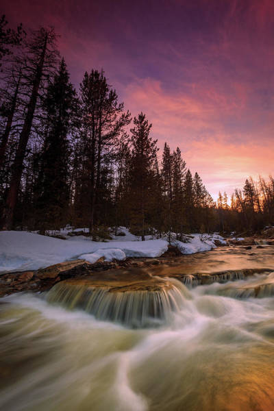 Awe Photograph - Uinta Waterfall by Johnny Adolphson
