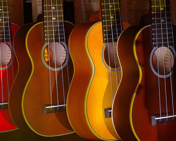 Photograph - Ukes by Jim Mathis