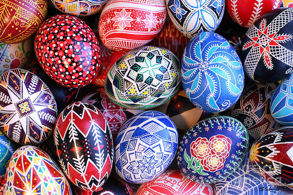 Photograph - Ukrainian Easter Eggs by E B Schmidt