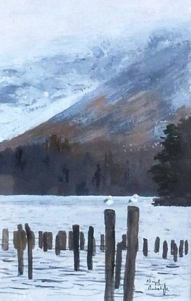 Lake District Painting - Ullswater In Winter by Nigel Radcliffe