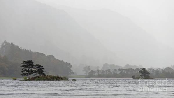 Ullswater Photograph - Ullswater Islands In The Rain by Richard Thomas