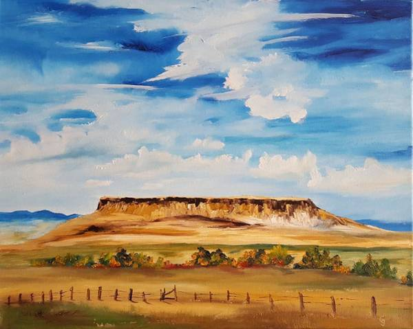 Ulm Montana First People's Buffalo Jump   93 Art Print