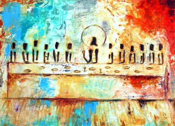 Wall Art - Mixed Media - Ultima Cena by Ivan Guaderrama