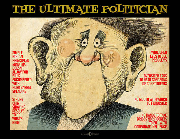 Digital Art - Ultimate Politician Poster by Tim Nyberg