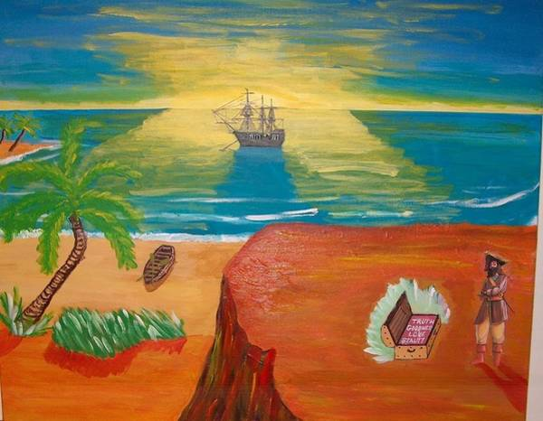 Buried Treasure Painting - Ultimate Treasure by Lawrence Johnson