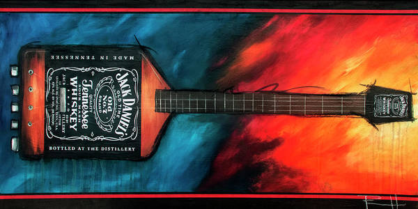 Jimmy Page Painting - Ultra Bass by Sean Parnell