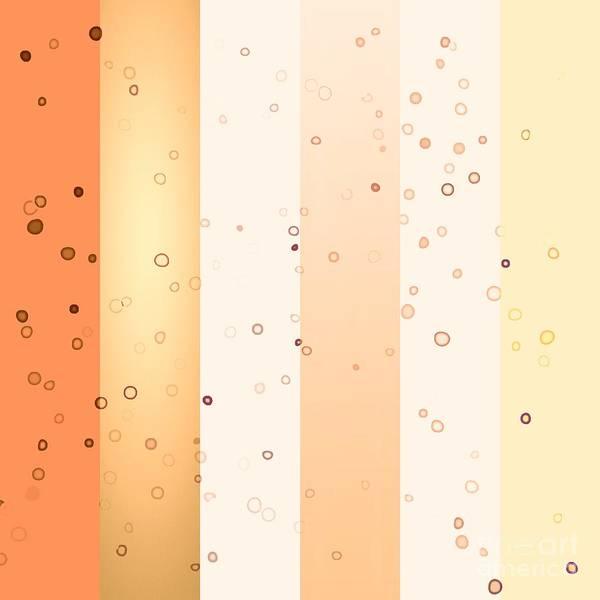 Digital Art - Ultra Modern Stripes Creamy Orange by Rachel Hannah