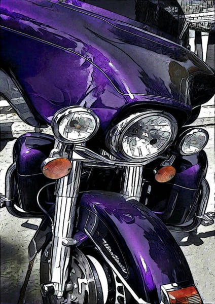Wall Art - Digital Art - Ultra Purple by David Manlove