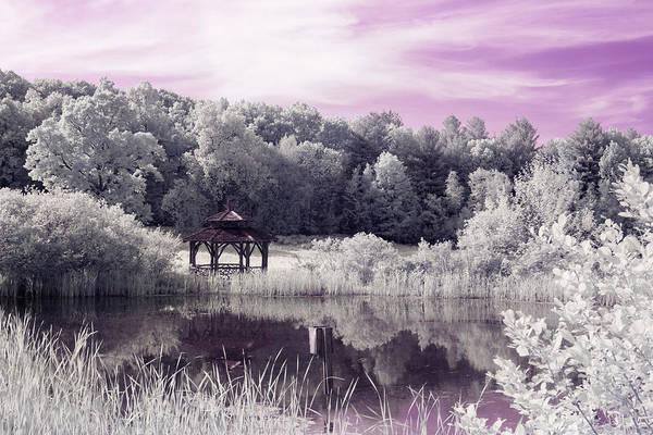 Photograph - Ultraviolet Gazebo by Brian Hale